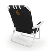Picnic Time Black NCAA Wyoming Cowboys Steel Folding Beach Chair