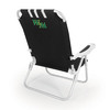 Picnic Time Black NCAA William and Mary Tribe Steel Folding Beach Chair