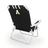 Picnic Time Black NCAA Appalachian State Mountaineers Steel Folding Beach Chair
