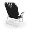 Picnic Time Black NCAA Maine Black Bears Steel Folding Beach Chair