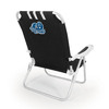 Picnic Time Black NCAA Old Dominion Monarchs Steel Folding Beach Chair
