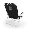 Picnic Time Black NCAA Marshall Thundering Herd Steel Folding Beach Chair
