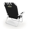 Picnic Time Black NCAA Cal Poly Mustangs Steel Folding Beach Chair