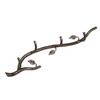 Stone County Ironworks Sassafras Natural Black 4-Hook Mounted Coat Rack
