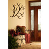 Stone County Ironworks Woodland Natural Black-Hook Mounted Coat Rack
