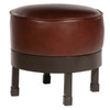 Stone County Ironworks Cedarvale Natural Black Round Ottoman