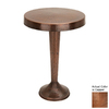Woodland Imports Copper Metal Round End Table