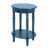 Woodland Imports Aqua Blue Oval End Table