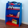 KidKraft Racecar Blue/Red 24-in W x 35.75-in H x 10.25-in D 3-Shelf Bookcase