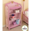 KidKraft Princess Bright Pink 42.5-in 4-Shelf Bookcase