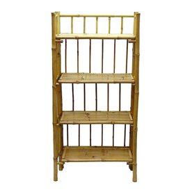 Bamboo 54 Natural Bamboo 26-in W x 53-in H x 12-in D 4-Shelf Bookcase