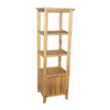 Bamboo 54 63.5-in 3-Shelf Bookcase