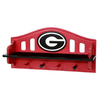 Fan Creations University of  Georgia 4-Hook Mounted Coat Rack