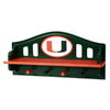 Fan Creations University of  Miami 4-Hook Mounted Coat Rack