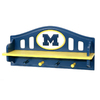 Fan Creations University of  Michigan 4-Hook Mounted Coat Rack