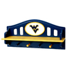 Fan Creations West Virginia University 4-Hook Mounted Coat Rack