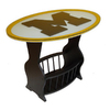 Fan Creations University of Michigan Black Oval End Table