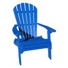 Phat Tommy Marina Blue Plastic Folding Patio Adirondack Chair