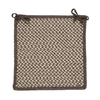 Colonial Mills Natural Wool Houndstooth Espresso Chair Cushion