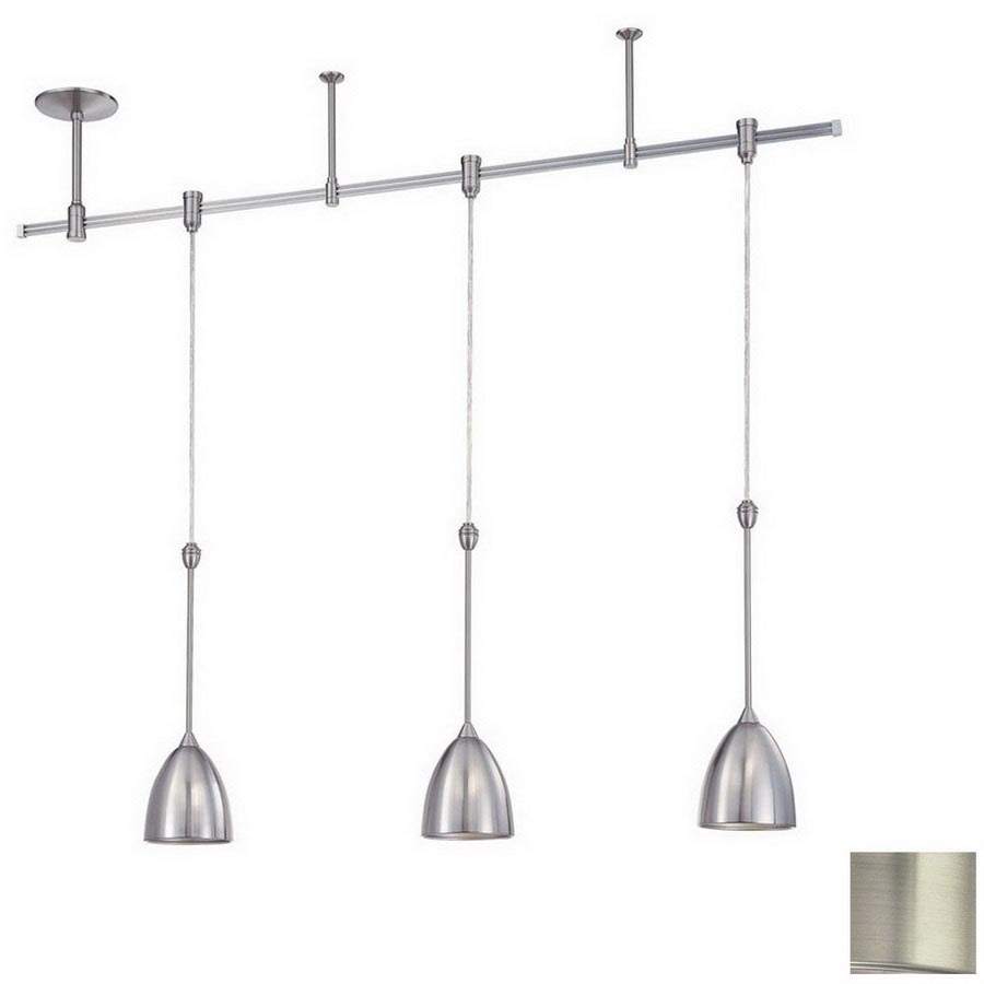 kendal lighting 3 light satin nickel decorative flexible track light