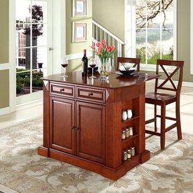 Crosley Furniture 48-in L x 35-in W x 36-in H Classic Cherry Kitchen Island