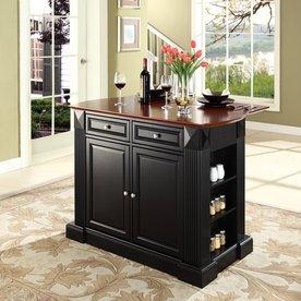 Crosley Furniture 48-in L x 35-in W x 36-in H Black Kitchen Island