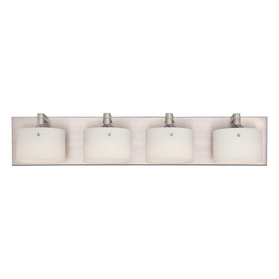 Shop Philips Forecast 4-Light Yo-Yo Satin Nickel LED Bathroom Vanity Light at Lowes.com