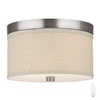 Philips Forecast 10-1/4-in Satin Nickel Art Glass Ceiling Flush Mount