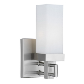 Philips Forecast Casa 4.25-in W 1-Light Satin Nickel Arm Hardwired Wall Sconce