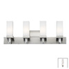 Philips Forecast 4-Light Casa Satin Nickel Bathroom Vanity Light