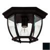 Kenroy Home Dural 11-in W Black Outdoor Flush-Mount Light