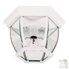 Kenroy Home Dural 11-in White Outdoor Flush-Mount Light