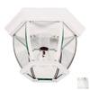 Kenroy Home Dural 11-in W White Outdoor Flush-Mount Light