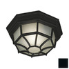 Kenroy Home Dural 11-in Black Outdoor Flush-Mount Light