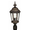 Kenroy Home Estate 23-in Antique Patina Pier Mount Light