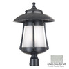 Kenroy Home Laguna 20-3/4-in Ebony Pearl Pier Mount Light