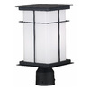 Kenroy Home Mesa 14-in Textured Black Pier Mount Light