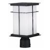 Kenroy Home Mesa 14-in H Textured Black Post Light