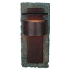 Kenroy Home Pembrooke 19-in H Natural Slate and Copper Outdoor Wall Light