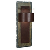 Kenroy Home Pembrooke 24-in H Natural Slate and Copper Outdoor Wall Light