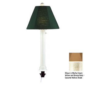 Patio Living Concepts 28-in Bisque Outdoor Table Lamp with Fabric Shade