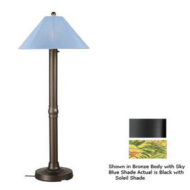 Shop Patio Living Concepts 16 In Black Outdoor Floor Lamp With Fabric Shade A