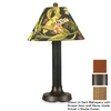 Patio Living Concepts 24-in Bronze Outdoor Table Lamp with Chili Linen Shade