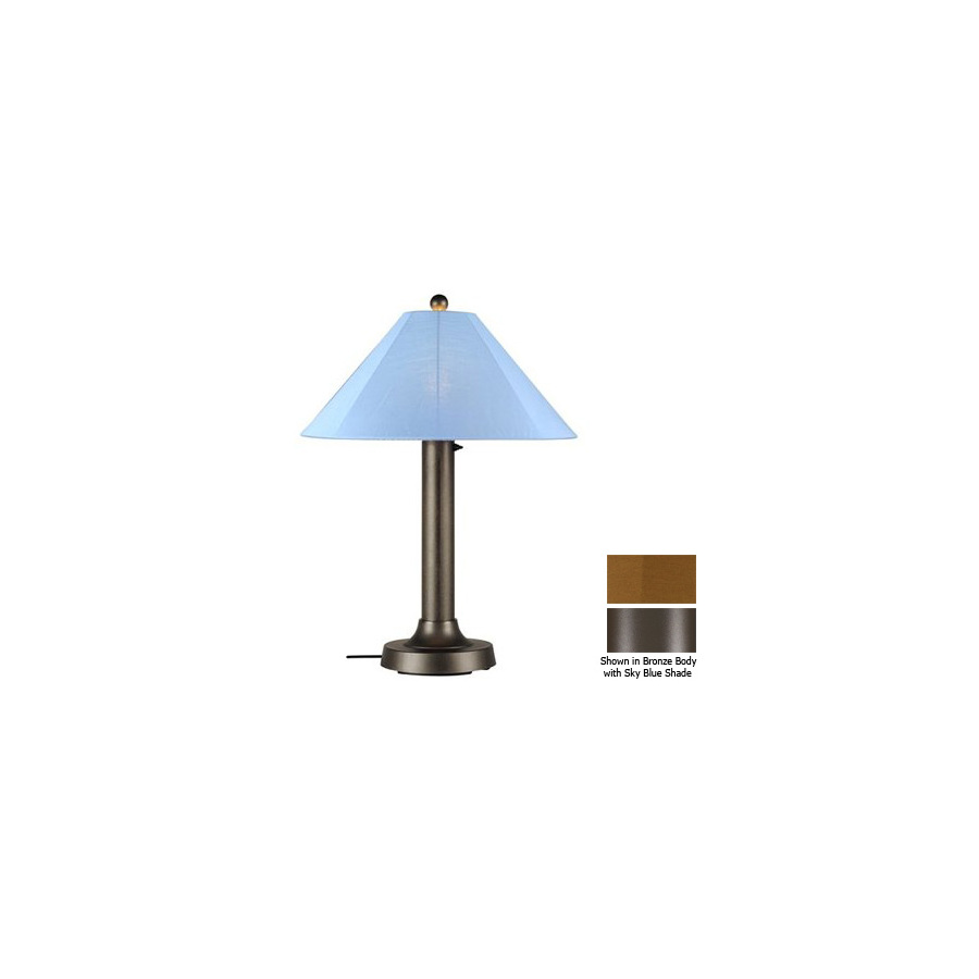 Shop Patio Living Concepts 34 In Bronze Outdoor Table Lamp With Fabric Shade
