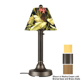 Patio Living Concepts 30-in Bronze Outdoor Table Lamp with Fabric Shade