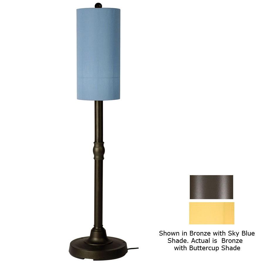 Shop patio living concepts 58 in h bronze outdoor floor for Outdoor floor lamps at lowes