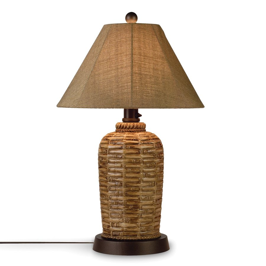 Shop patio living concepts 34 in bamboo outdoor table lamp for Outdoor lamps