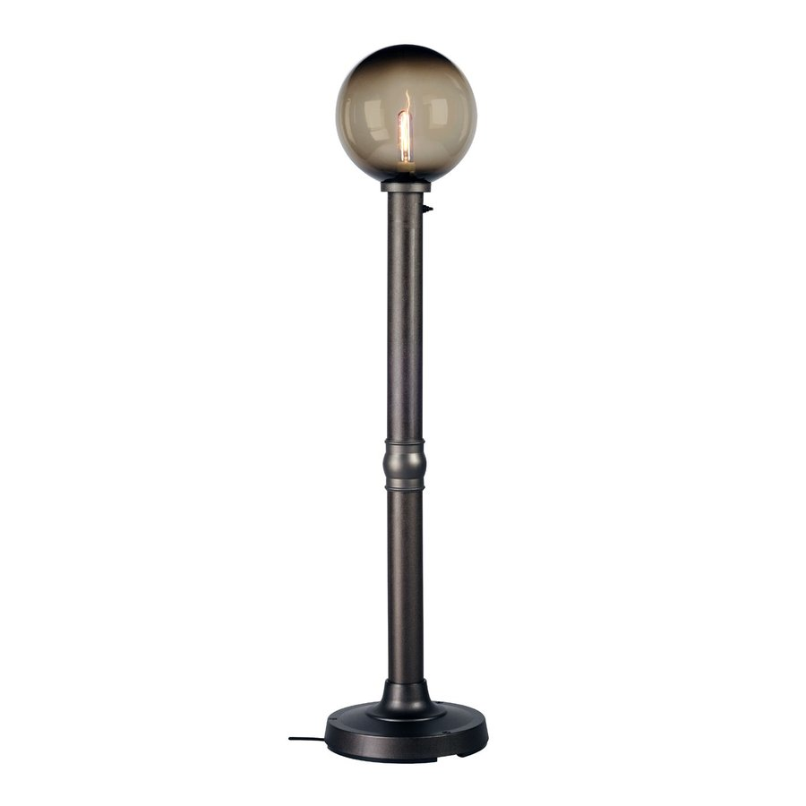 Shop patio living concepts 64 in resin outdoor floor lamp for Outdoor floor lamps at lowes