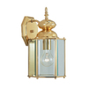 Livex Lighting Basics 13-in Polished Brass Outdoor Wall Light