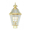 Livex Lighting Georgetown 23-3/4-in Polished Brass Pier-Mounted Light